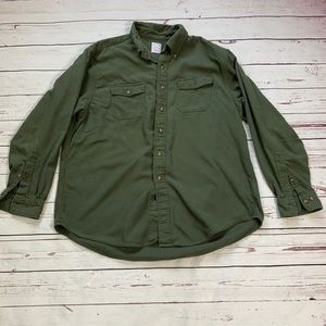 Brooks Brothers Olive Green Button Up Shirt XL